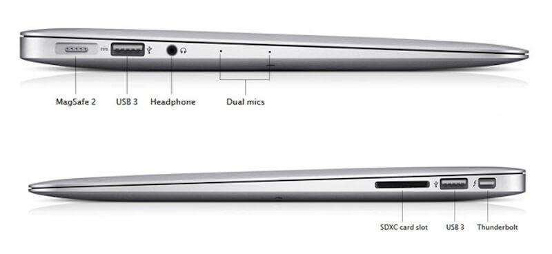 Cổng kết nối MacBook Air 13inch 2016