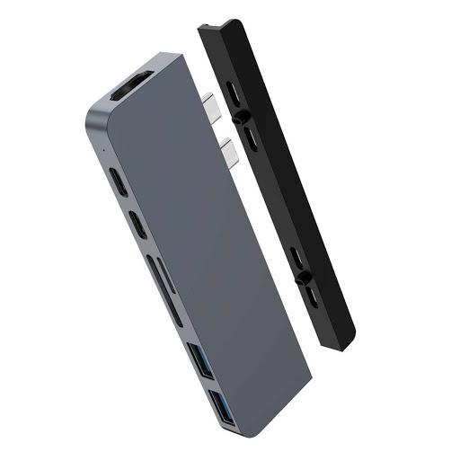 HyperDrive DUO USB C 7 in 2 Hub laptopvang