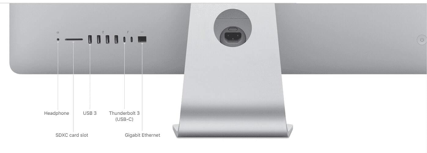 Cổng kết nối trên iMac 2019 & 2020