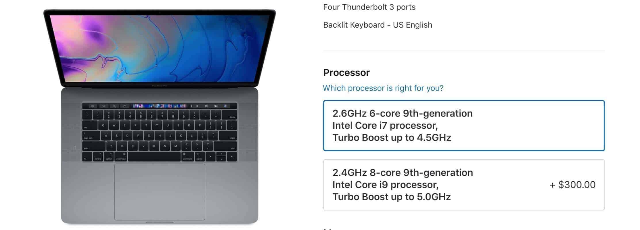 Thông số kỹ thuật Macbook Pro 2019 MV902