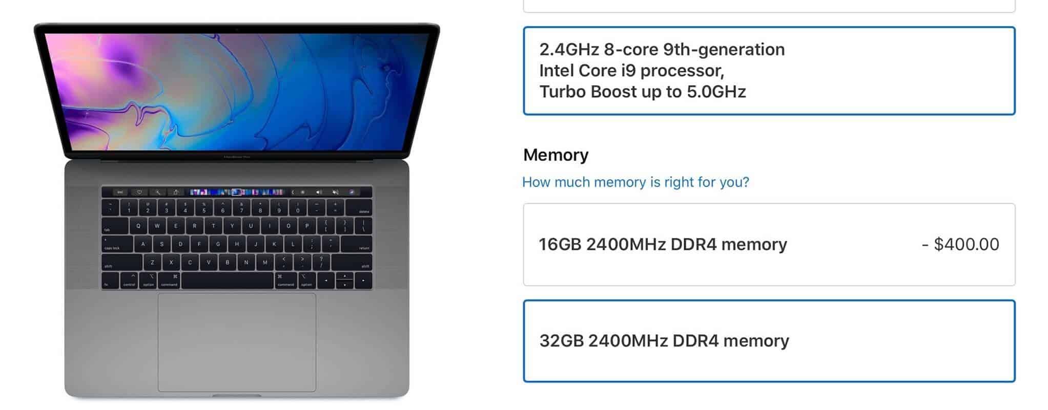 Thông số kỹ thuật của máy丨MacBook Pro 2019 MV942