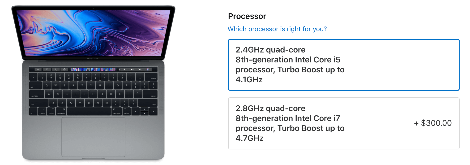 CPU MacBook Pro 2019 13 inch