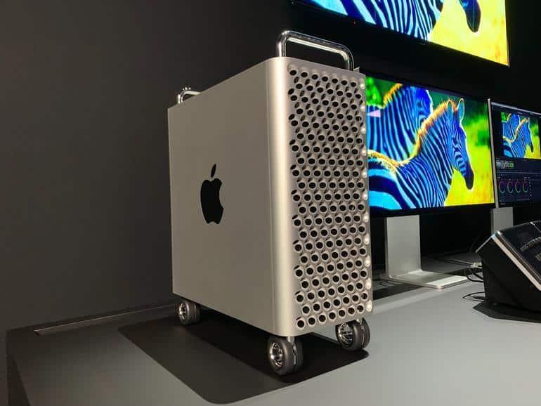 hình dạng bên ngoài Mac Pro 2019
