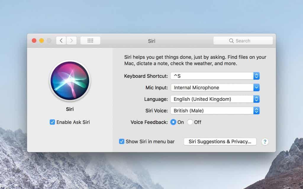 """macbook pro 2019 MUHP2 có tính năng trợ lý ảo """"hey Siri"""""""