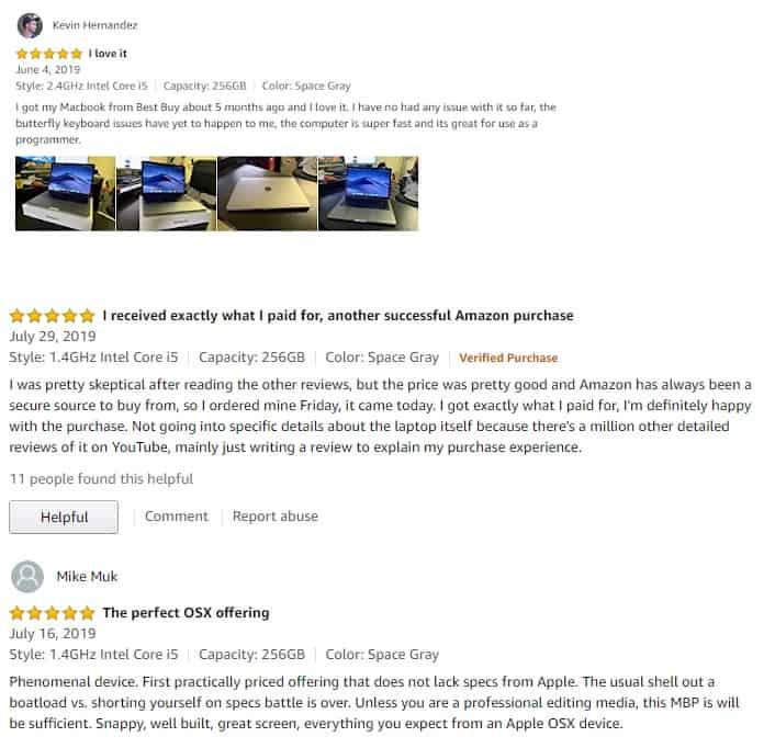 đánh giá tích cực từ phía người dùng về Macbook Pro MUHN2