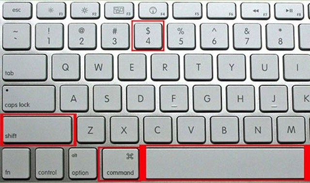 Cách chụp một phần màn hình Macbook bằng tổ hợp phím