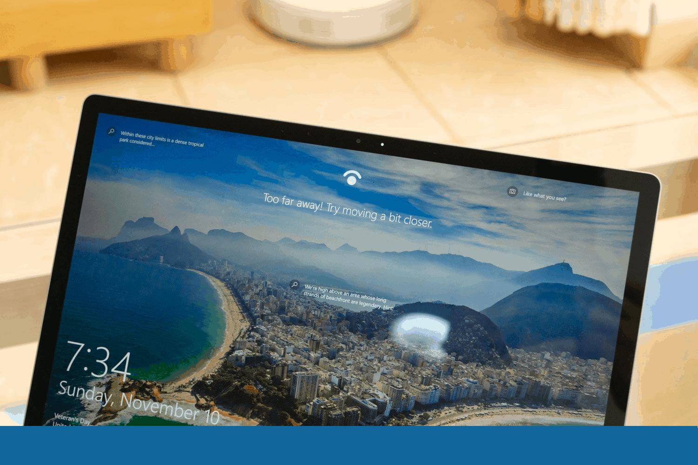 window hello surface laptop 3