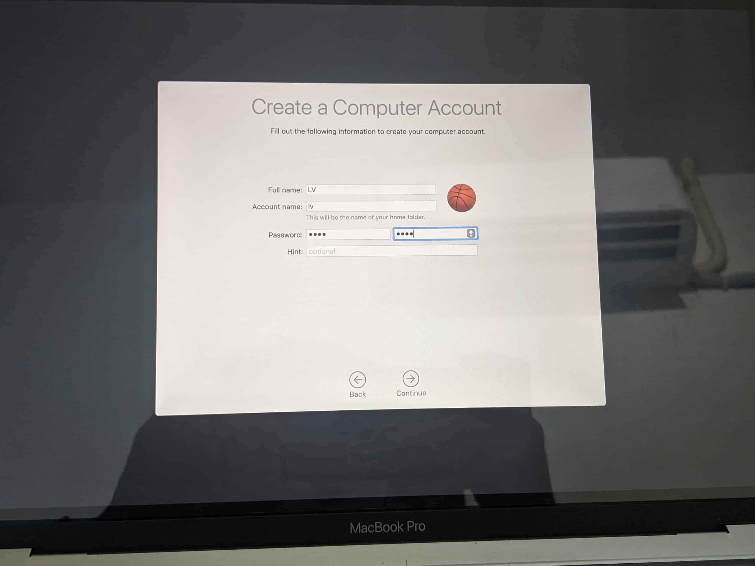 Thiết lập máy mới - thiết lập tài khoản login