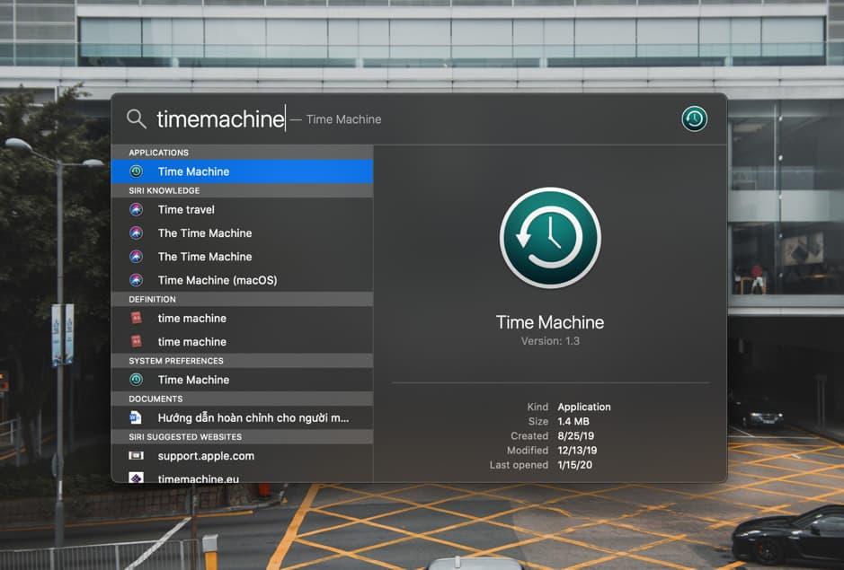 Sao lưu với Time Machine