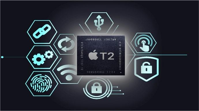 Chip T2 tăng cường bảo mật