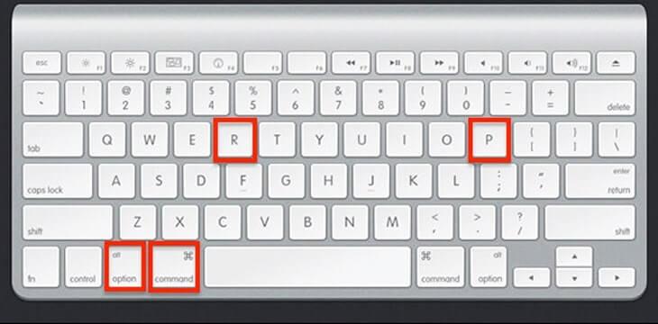 reset pram macbook
