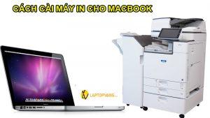 cách cài máy in macbook