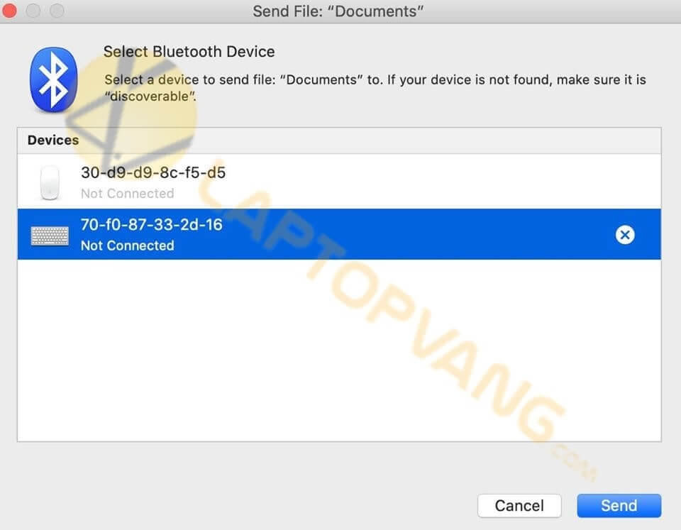 cách mở bluetooth macbook