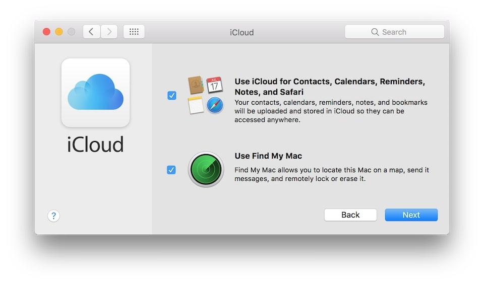 đăng nhập vào icloud trên macbook