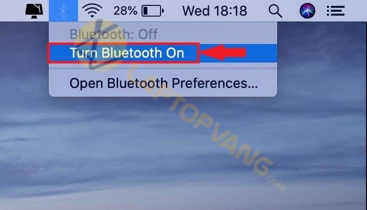 mở bluetooth mac book
