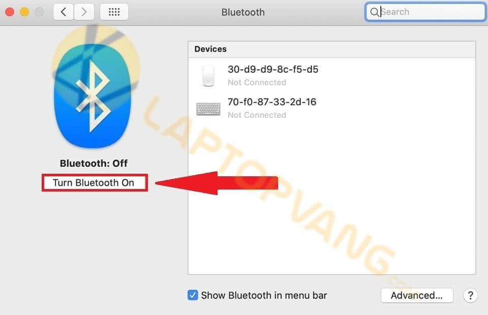 mở bluetooth mac