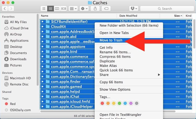 cách dọn rác macbook