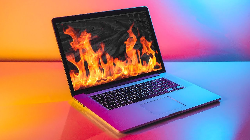 macbook bị nóng