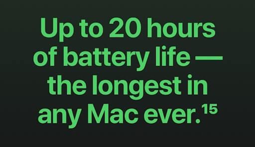 tuổi thọ pin macbook m1