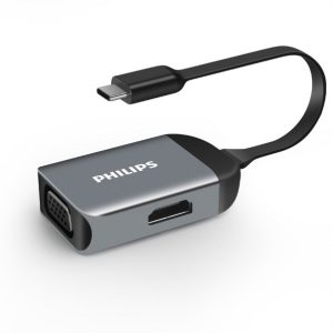 CỔNG NỐI PHILIPS TYPE C TO HDMI FT VGA (2)