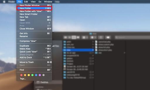 cách tạo folder trên macbook