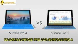 so sánh surface pro 3 và surface pro 4