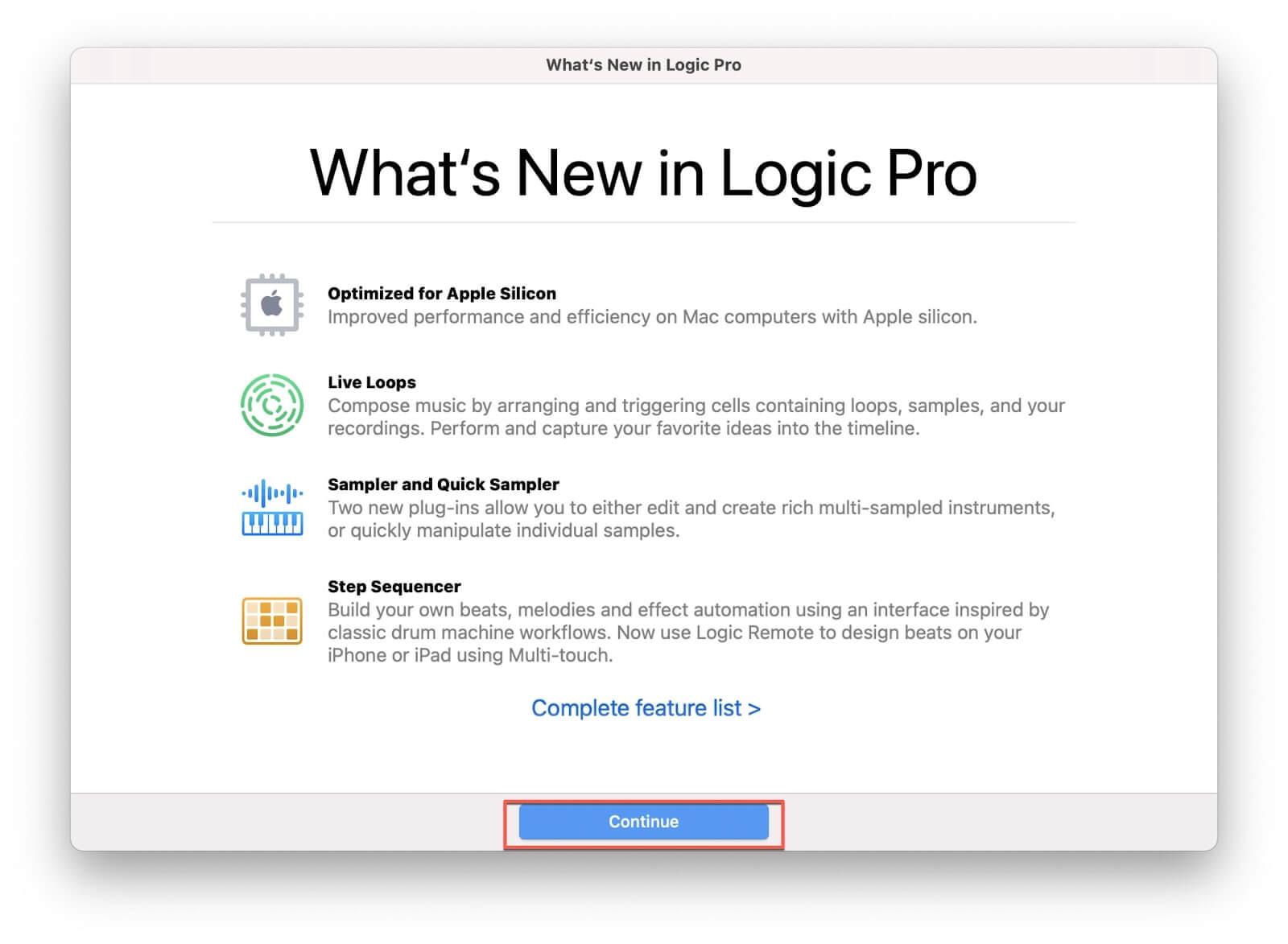 new in logic pro