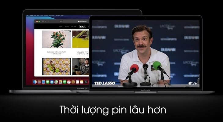 thời lượng pin macbook m1