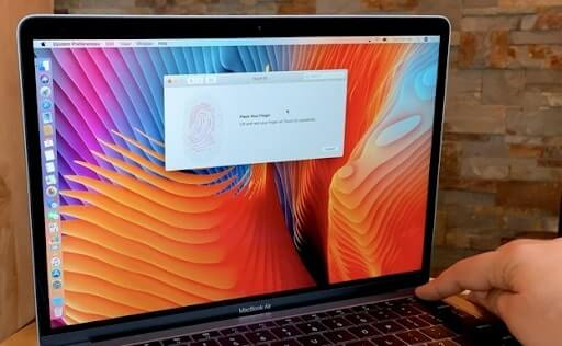 thiết lập touch id