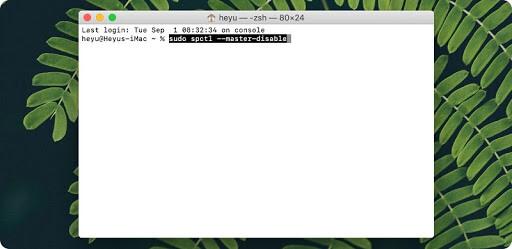 cách tắt gatekeeper trên macbook