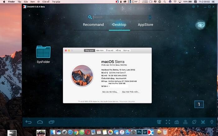 giả lập android mac