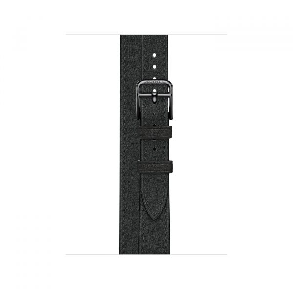 MJ5U3 apple watch 6 hermes Gray Stainless Steel Case with Attelage Double Tour Noir laptopvang 3