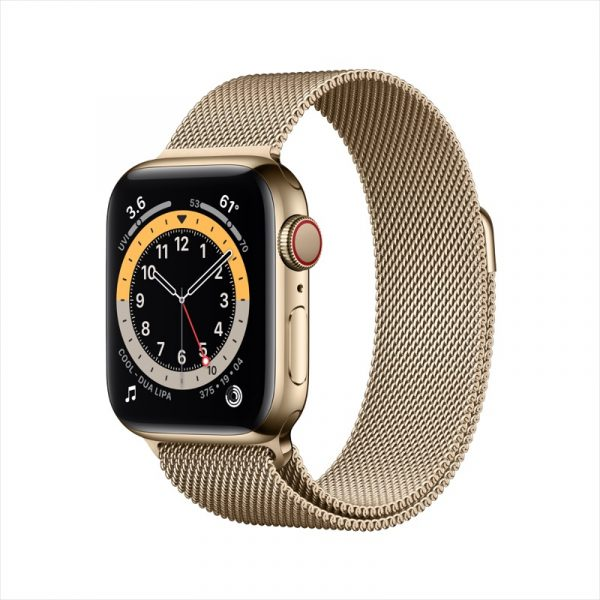 VN Apple Watch Series 6 LTE 40mm Gold Stainless Steel Gold Milanese Loop PDP Image Position 1 1
