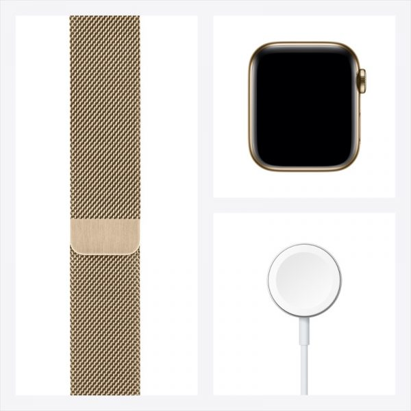 VN Apple Watch Series 6 LTE 40mm Gold Stainless Steel Gold Milanese Loop PDP Image Position 8 1