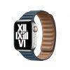 apple watch band saddle baltic blue leather link laptopvang