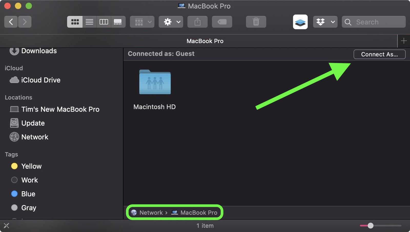 cách chuyển dữ liệu giữa 2 macbook