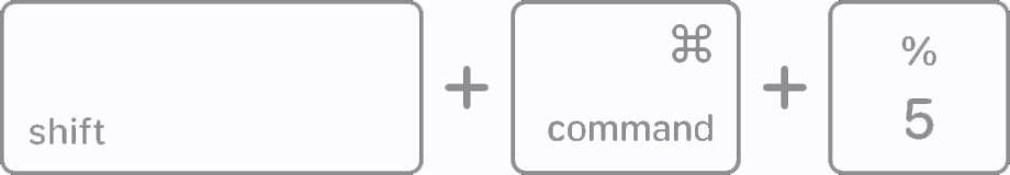 Shift + Command + 5