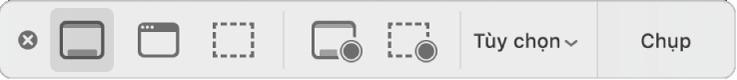 Bảng công cụ với phím tắt Shift + Command + 5