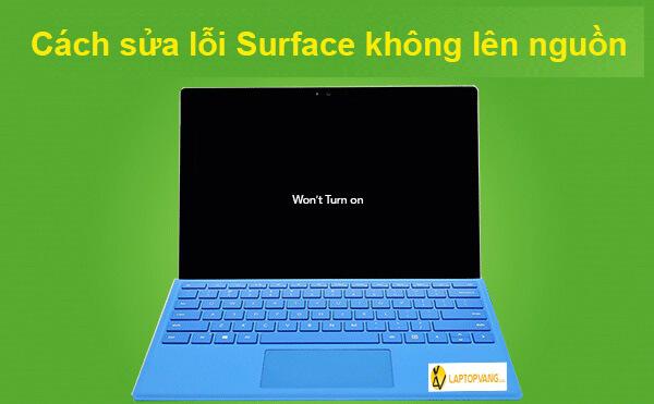 máy surface không lên nguồn