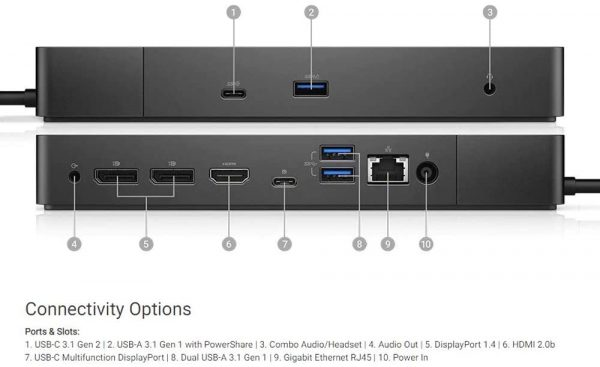 Dell WD19 130W Docking Station laptopvang (2)