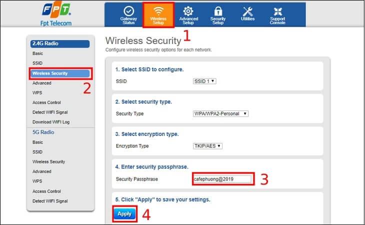 cách đổi mật khẩu modem wifi