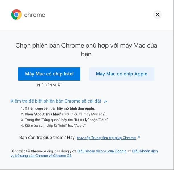 cài chrome cho macbook