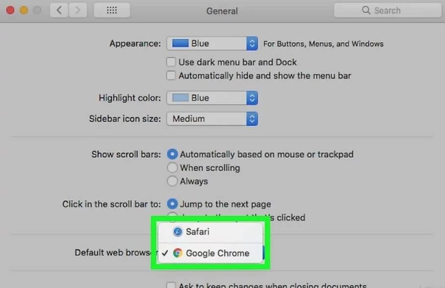 cài chrome mặc định trên mac