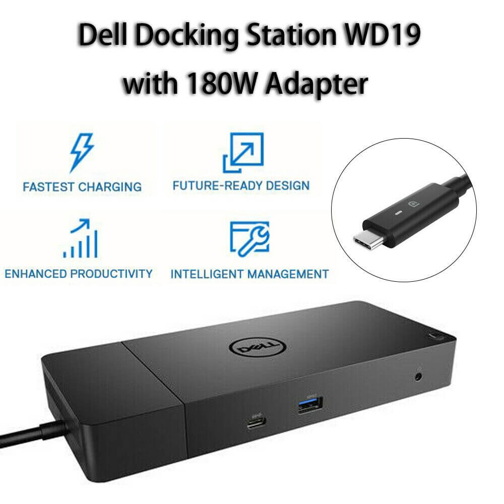 Giới thiệu Dell Dock WD19 with Adapter 180W