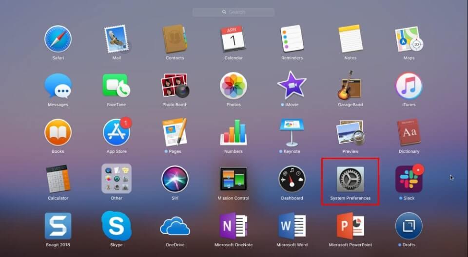 System Preferences trên Macbook