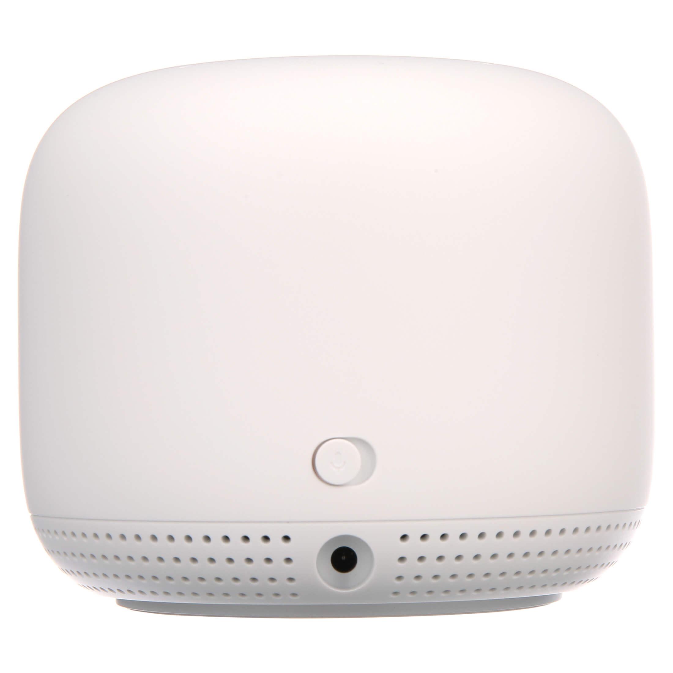 Google Nest Wifi Point được trang bị cổng nguồn kèm với nút bật tắt nguồn