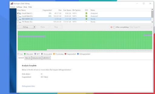 disk defragmenter windows