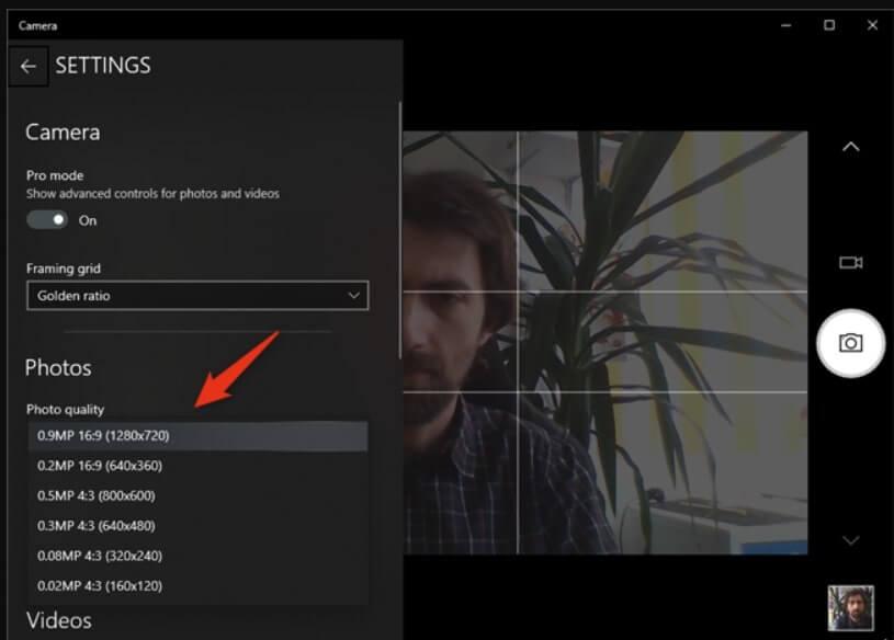mở webcam trên laptop