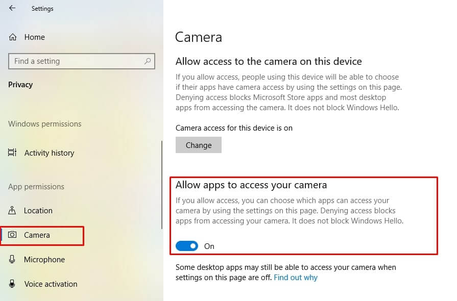 cách bật webcam trên laptop