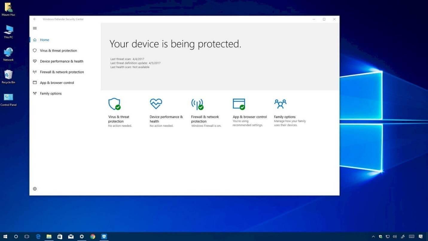 tắt phần mềm diệt virus win 10
